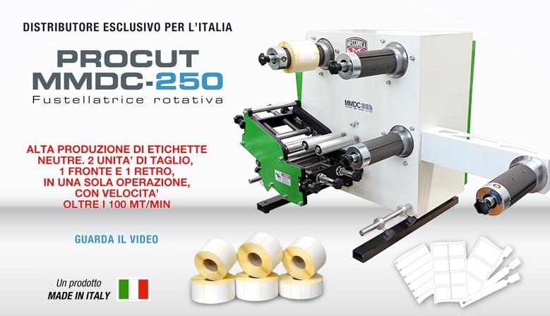 Fustellatrice rotativa per etichette Procut MMDC 250